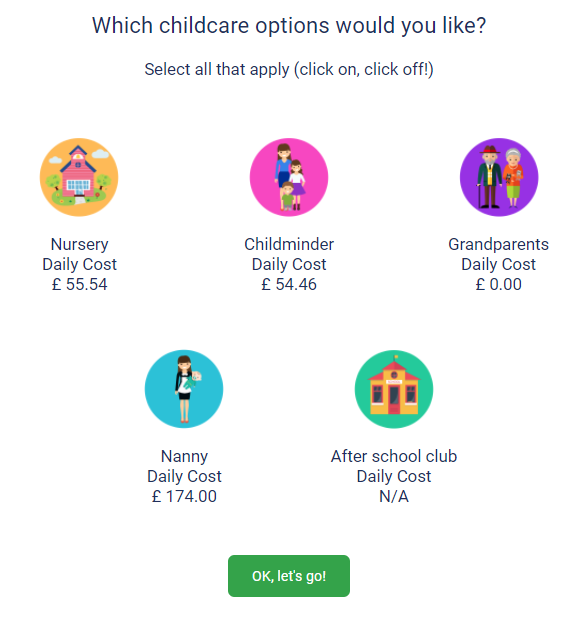 Choose your childcare options