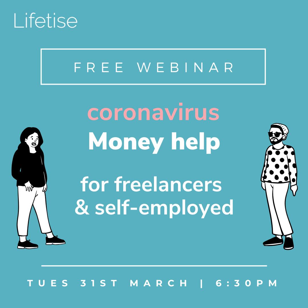 Coronavirus money help freelancers self-employed